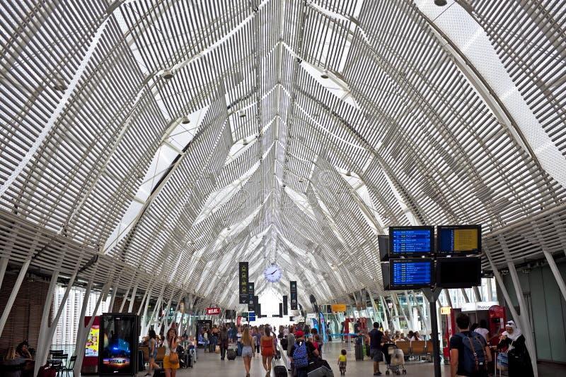 火车站,蒙彼利埃,法国 免版税库存图片