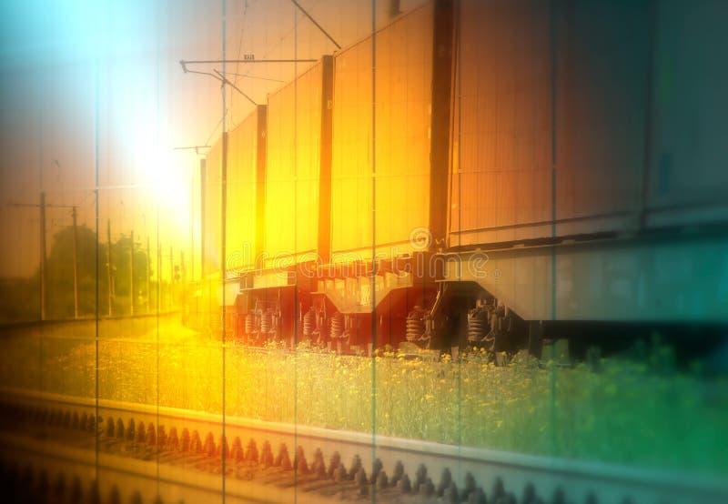 火车货物运输 免版税库存照片