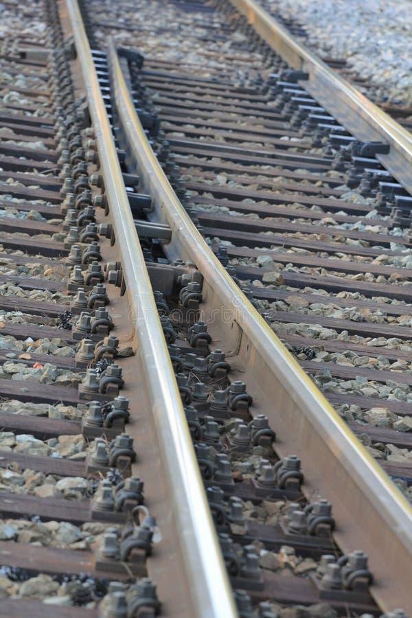 火车轨道-接近  库存图片