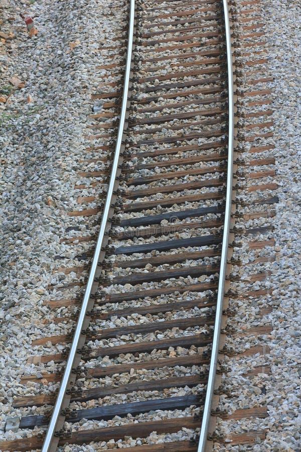 火车轨道-接近  库存照片