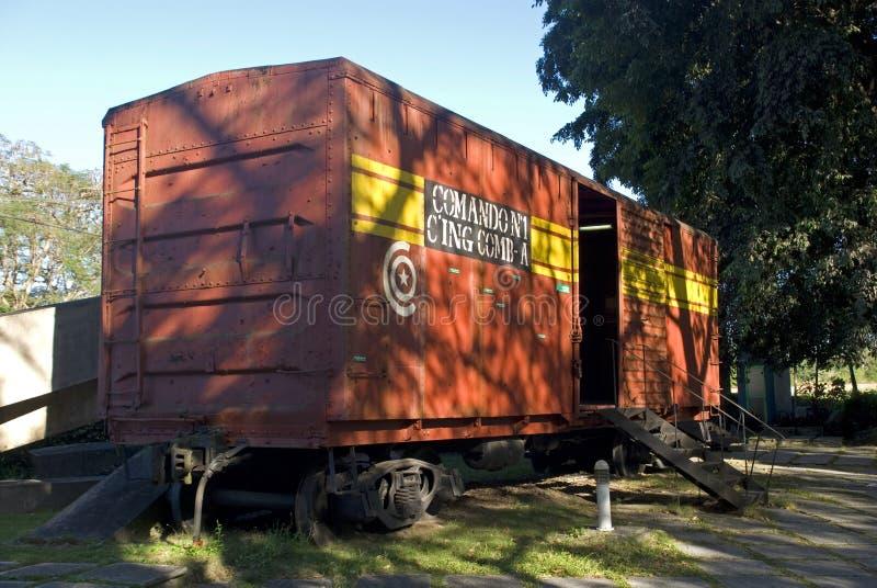 火车,圣克拉拉,古巴 免版税图库摄影