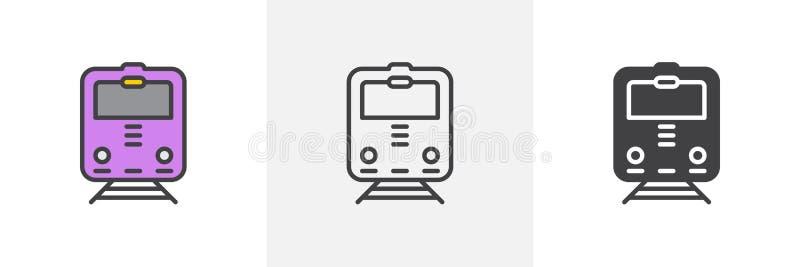火车,铁路象 向量例证