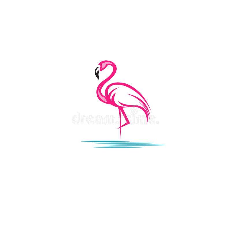 火鸟商标设计桃红色股票传染媒介例证 库存例证
