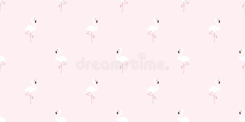 火鸟无缝的样式传染媒介桃红色火鸟异乎寻常的鸟热带围巾被隔绝的夏天重复墙纸瓦片背景cartoo 皇族释放例证