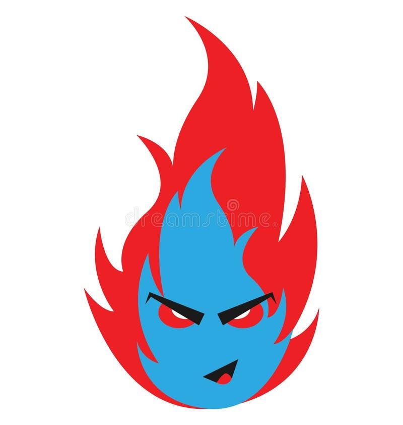 火,可怕的颜色隔绝了可以容易地是编辑的传染媒介象或修改了 向量例证