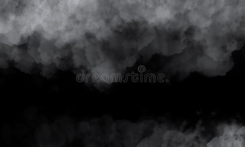 火,在黑暗的背景的火,浓烟 火的灾害的夜视图 库存例证
