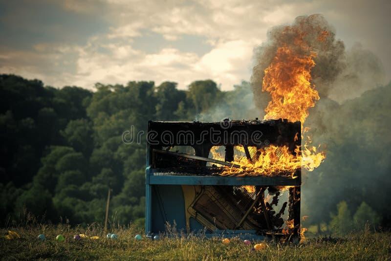 火,艺术,万圣夜,垃圾,篝火 库存图片