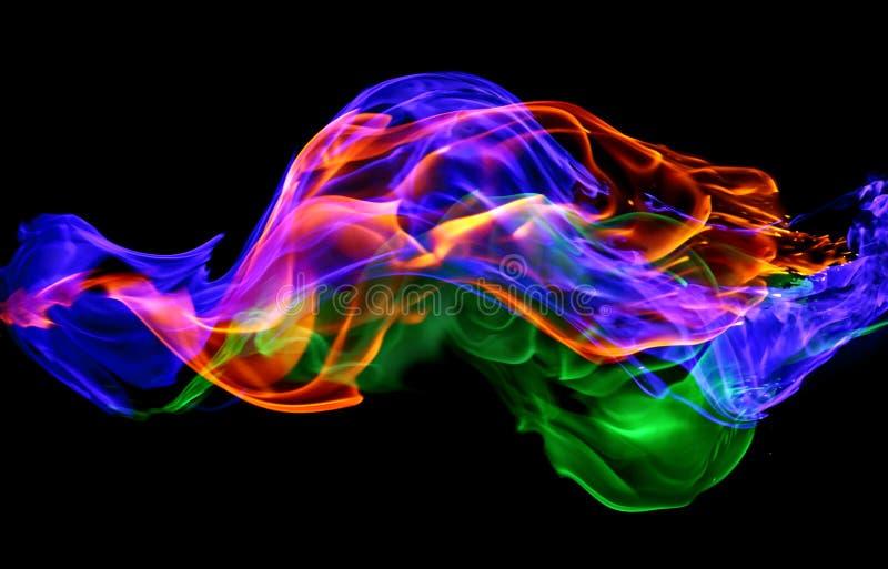 火-一系列色的等离子火元素包括ho 免版税库存照片