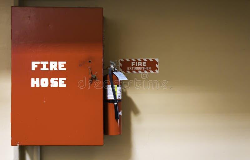 灭火水龙带安全设备 免版税库存照片