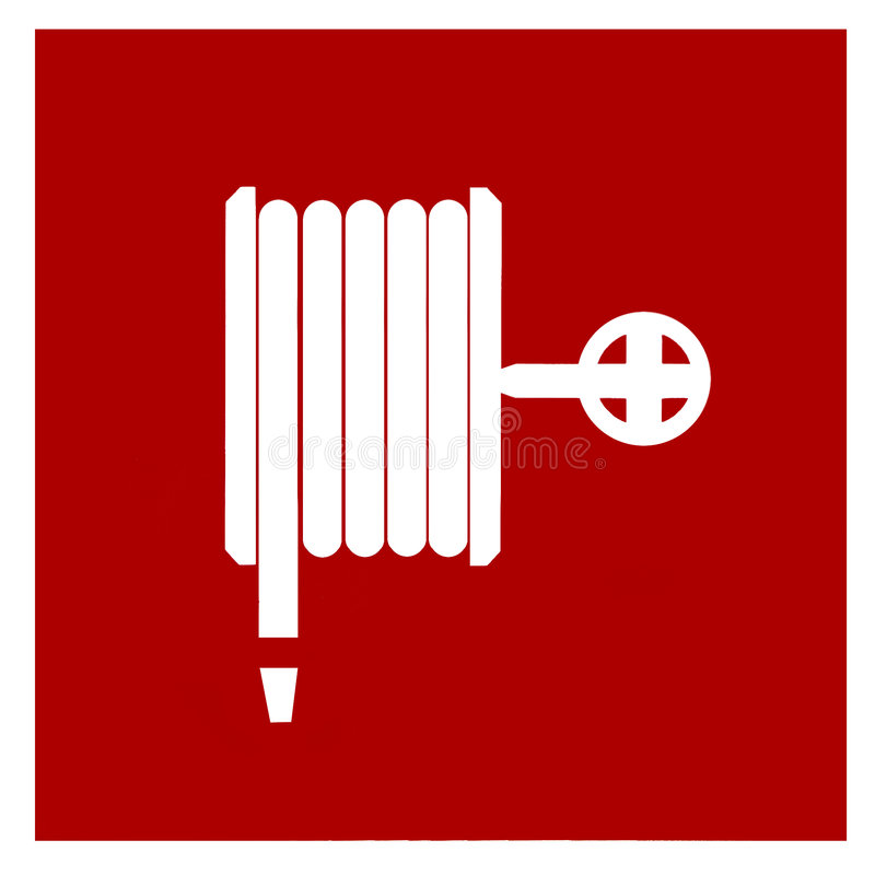 灭火水龙带符号 库存例证
