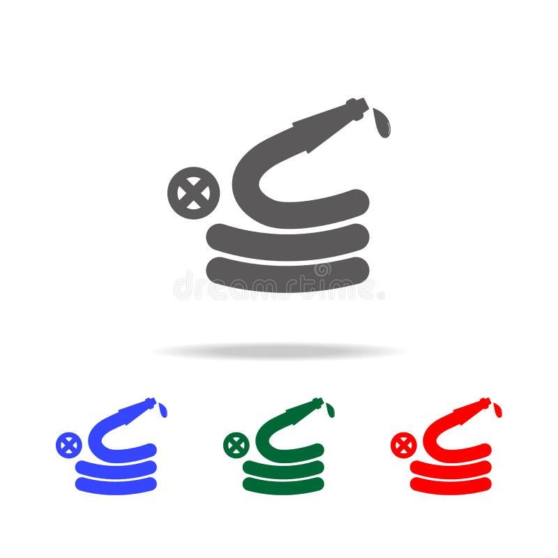 灭火水龙带象 消防员的元素多色的象的 优质质量图形设计象 网站的简单的象,网 向量例证