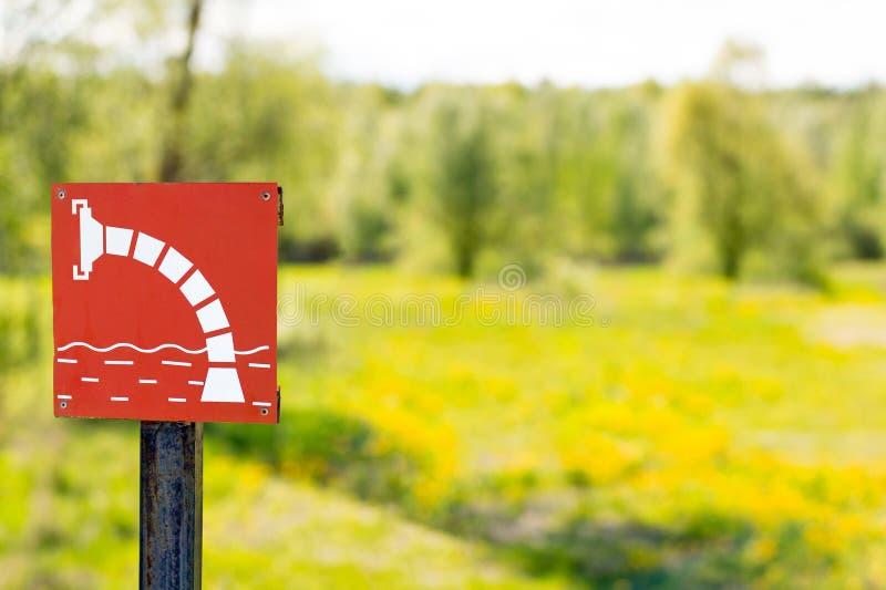 灭火的水的标志 库存图片