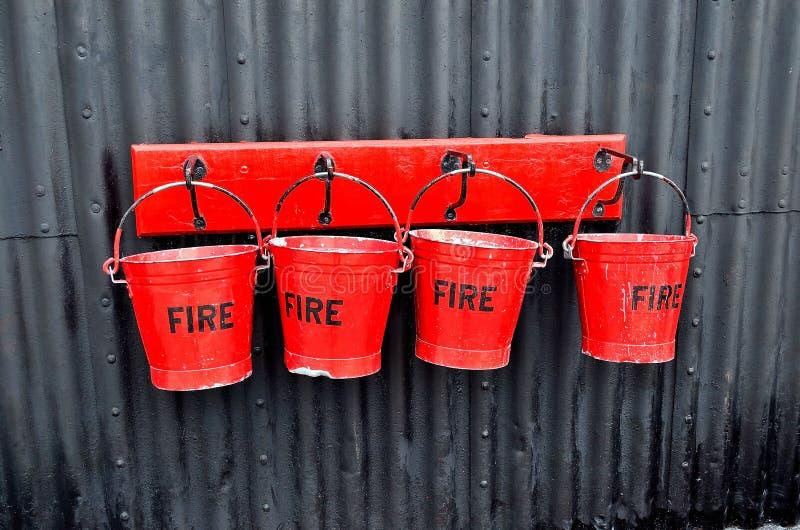 灭火水桶 库存图片