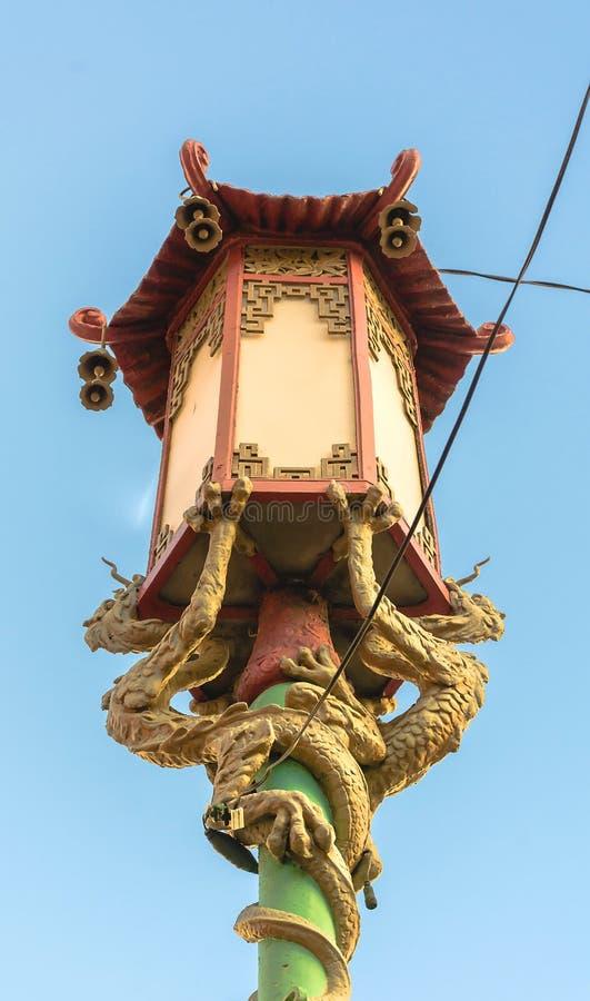 灯在旧金山唐人街 免版税库存图片