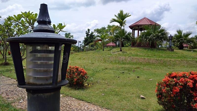 灯在泰国viliage公园 免版税库存照片