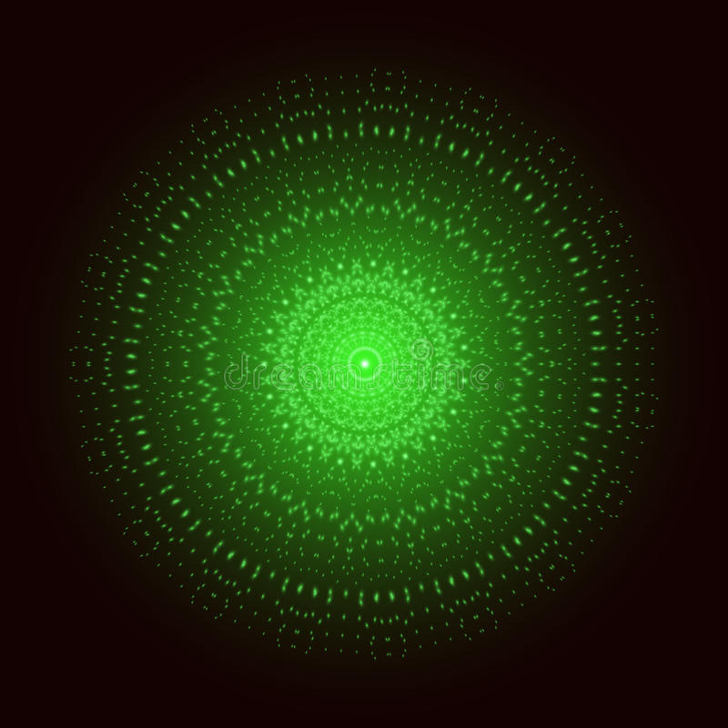 绿灯坛场 抽象装饰品向量 皇族释放例证