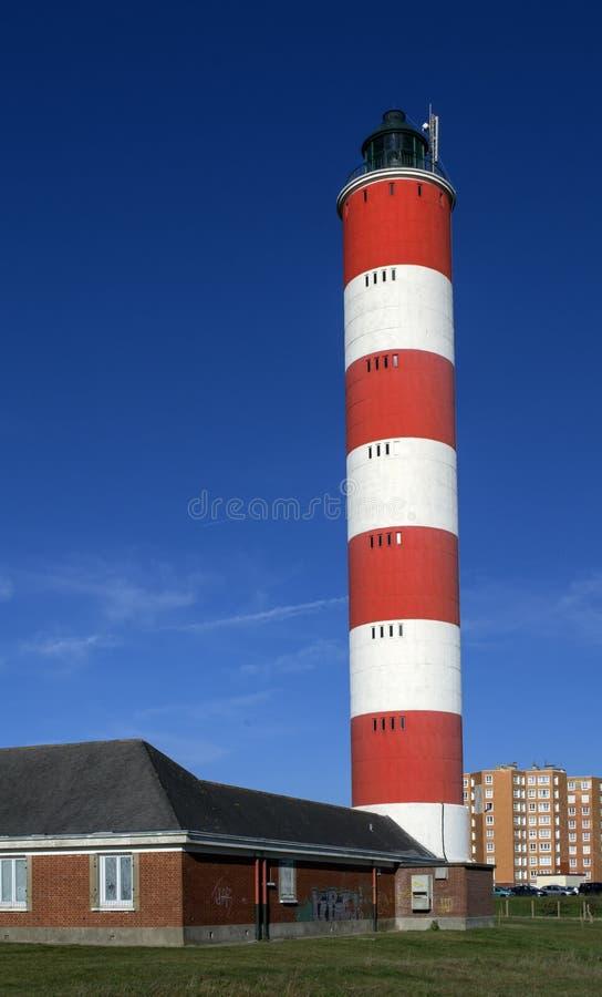 灯塔。贝尔克sur Mer.France 免版税库存照片