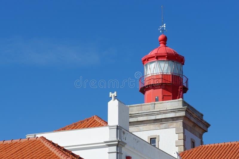 灯塔上面在罗卡角,葡萄牙 免版税图库摄影