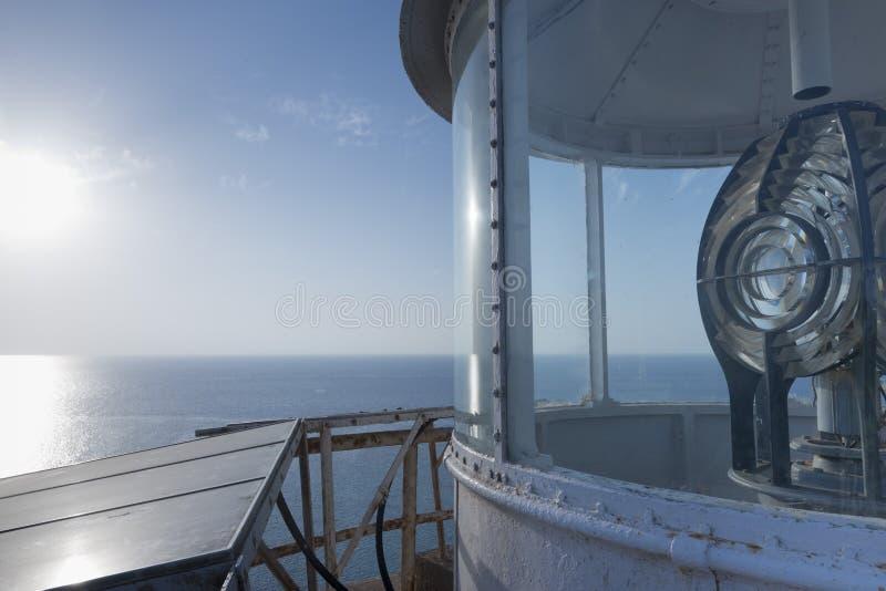 灯塔上面 免版税库存照片