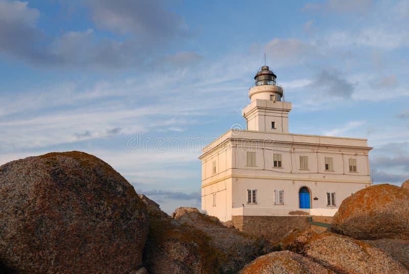 灯塔北部撒丁岛 库存照片
