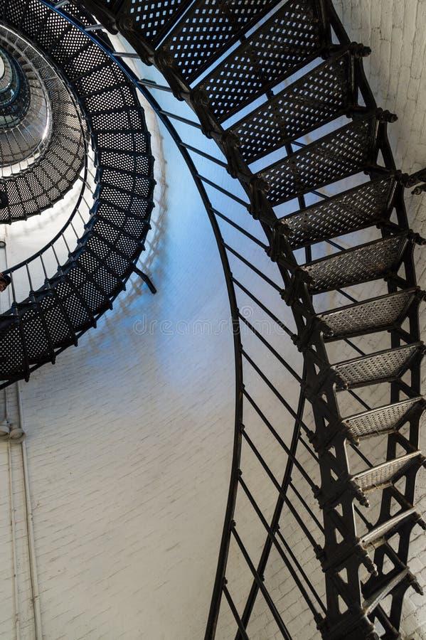灯塔台阶 免版税库存图片