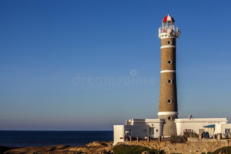 灯塔在何塞伊廖齐乌拉圭 免版税库存图片