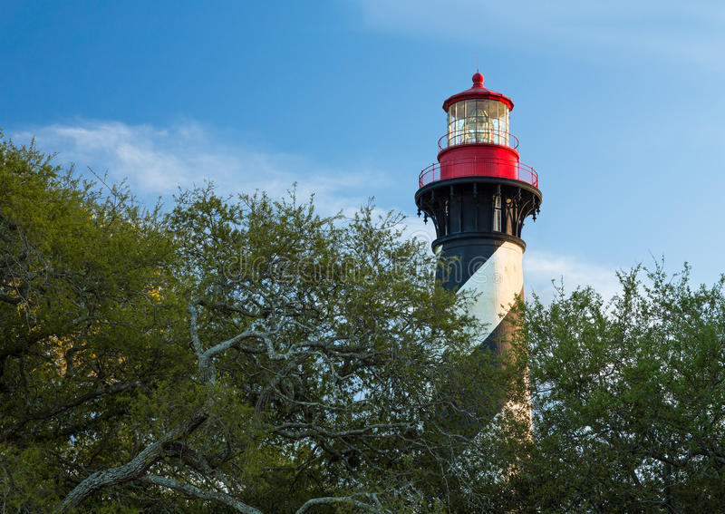 灯塔在圣奥斯丁 免版税库存图片