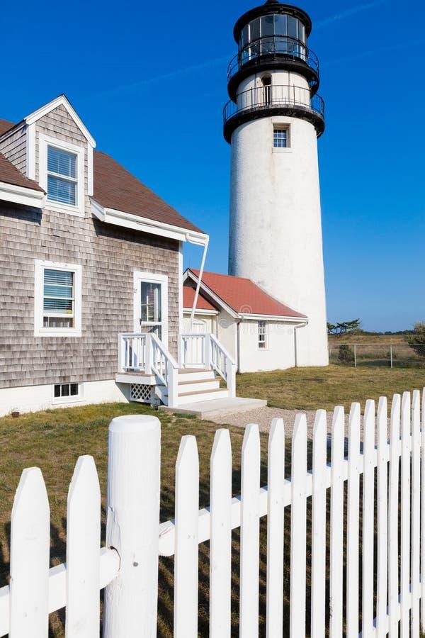 灯塔在新英格兰 免版税库存照片