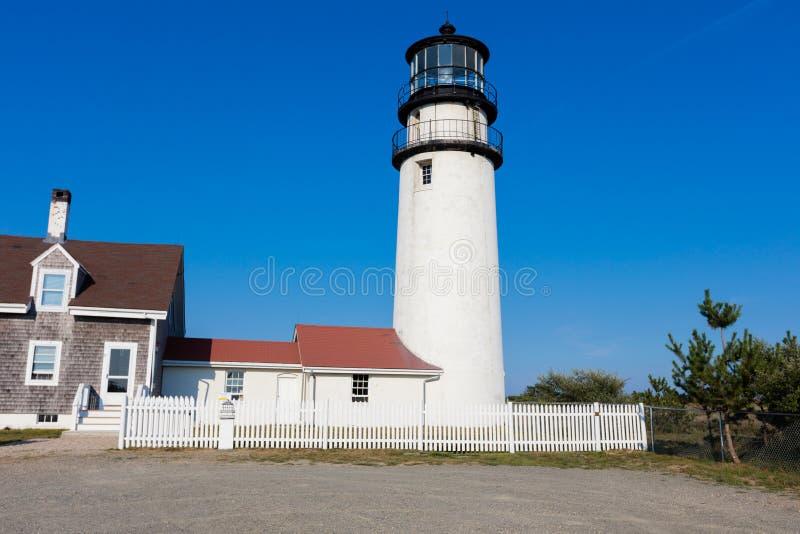 灯塔在新英格兰 库存图片