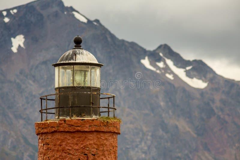 灯塔在最后世界的 库存照片