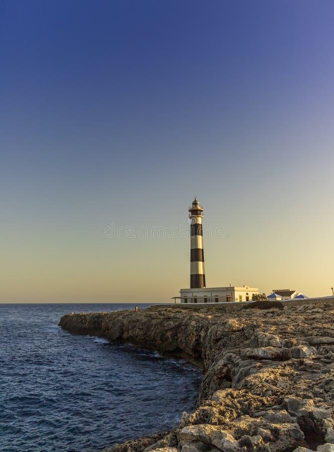 灯塔在梅诺卡,西班牙 库存照片