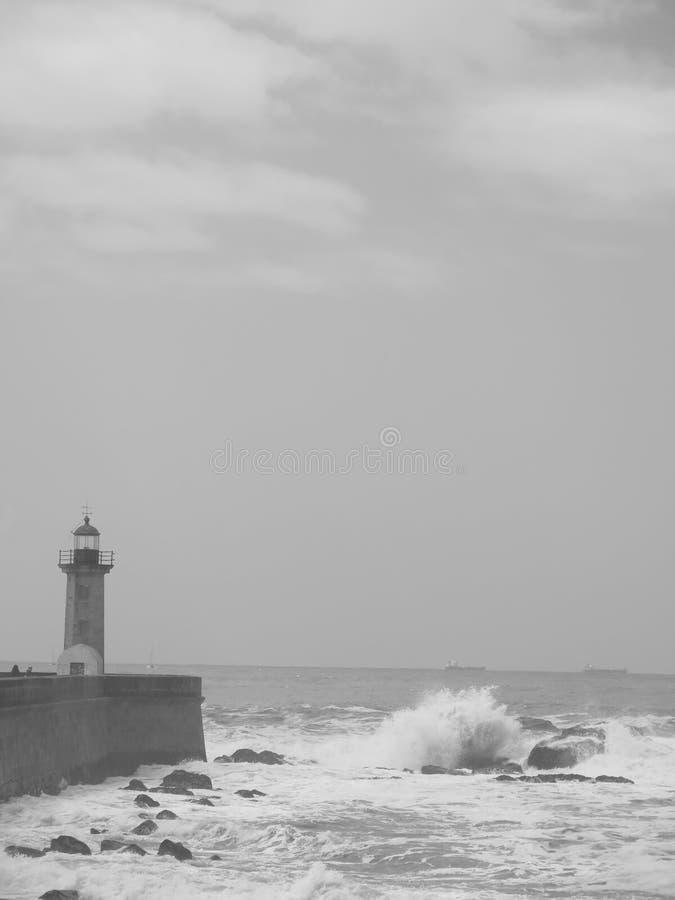 灯塔在波尔图在葡萄牙 免版税库存照片