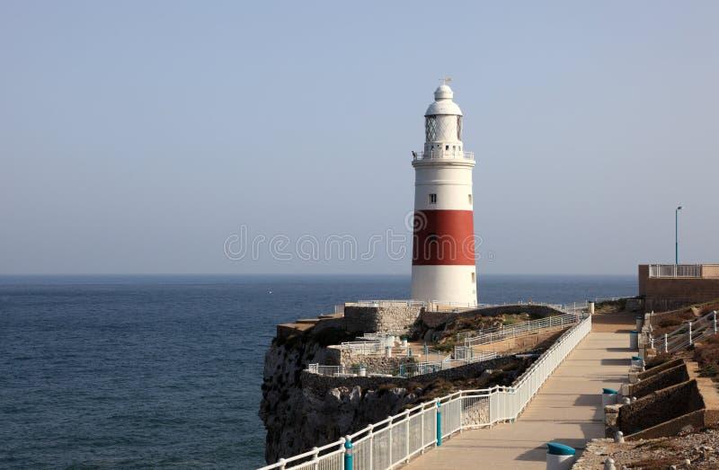 灯塔在直布罗陀 免版税库存照片