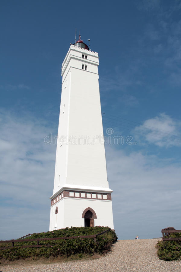 灯塔在Blavand 免版税图库摄影