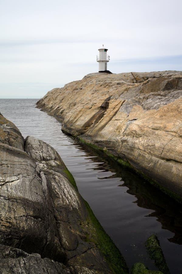 灯塔在Marstrand,瑞典 免版税库存图片