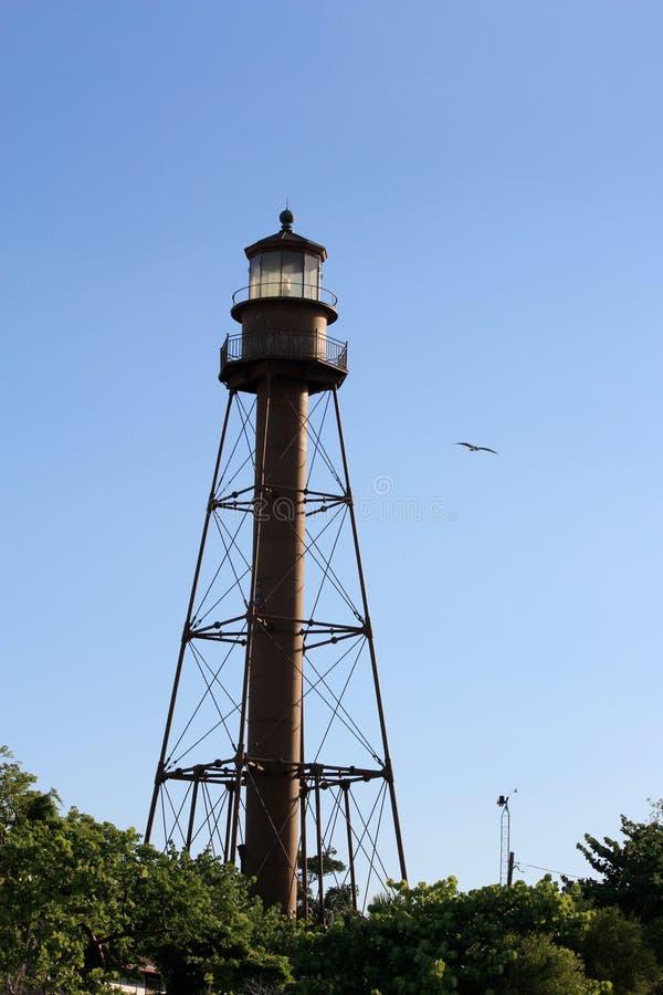 灯塔在Sanibel海岛佛罗里达 免版税库存图片