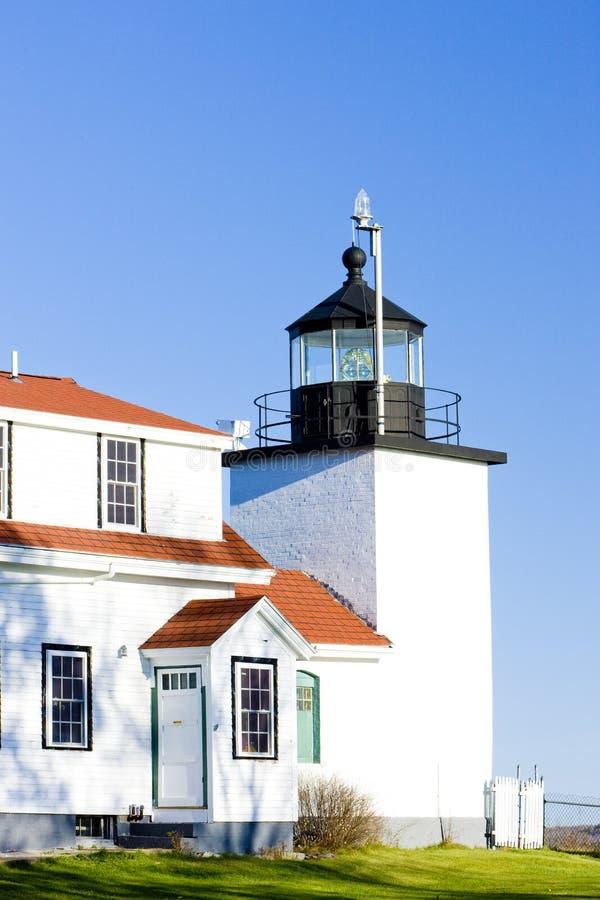 灯塔堡垒点光,斯托克顿春天,缅因,美国 免版税库存图片