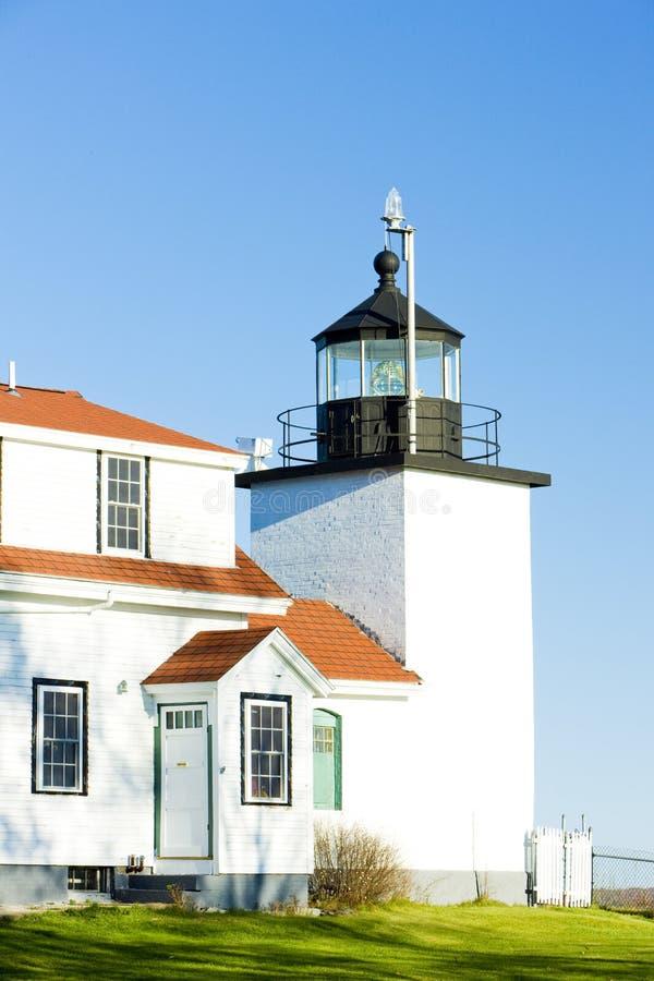 灯塔堡垒点光,斯托克顿春天,缅因,美国 免版税库存照片
