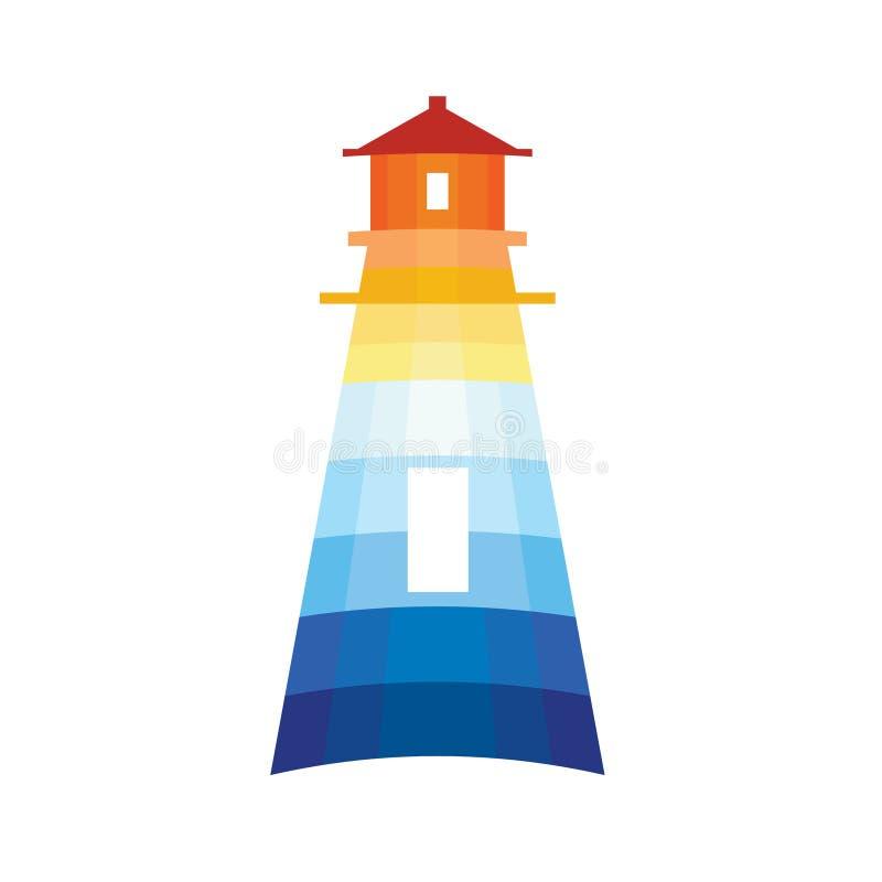 灯塔徽标 库存例证