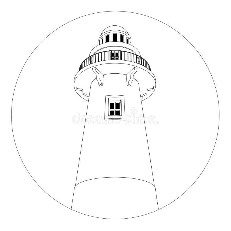 灯塔徽标 向量例证