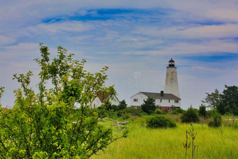 灯塔新英格兰海岸线 库存图片