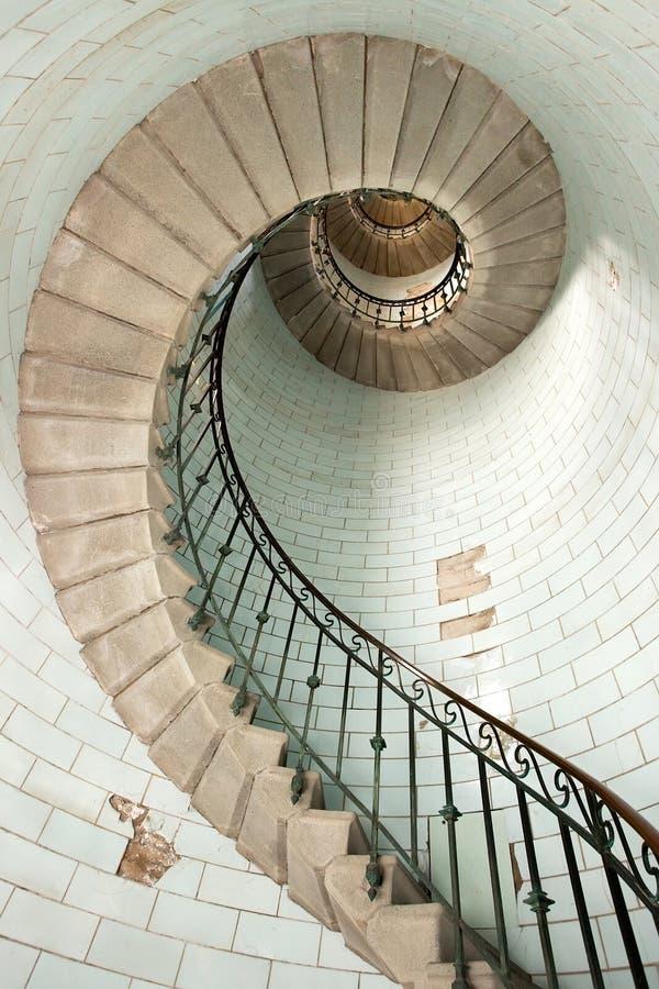 灯塔楼梯 免版税库存照片