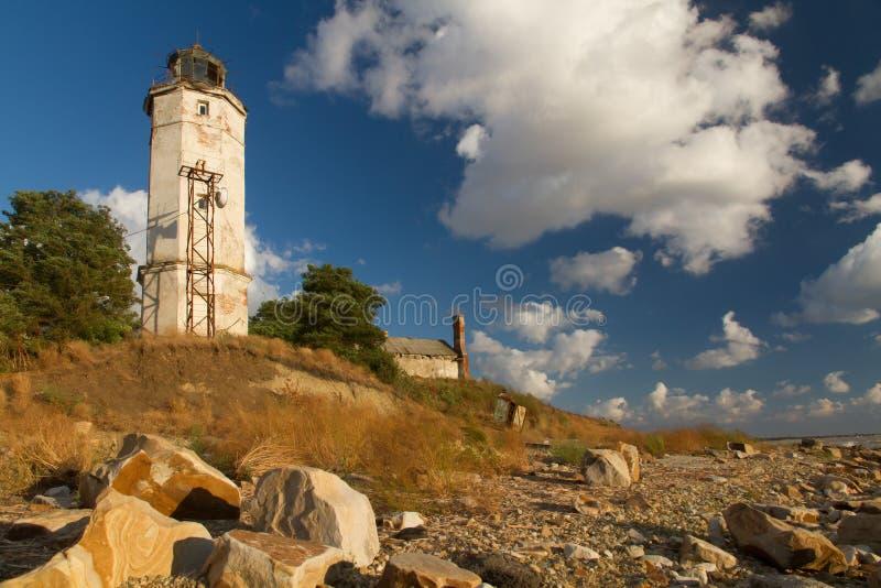 灯塔沿海 库存图片