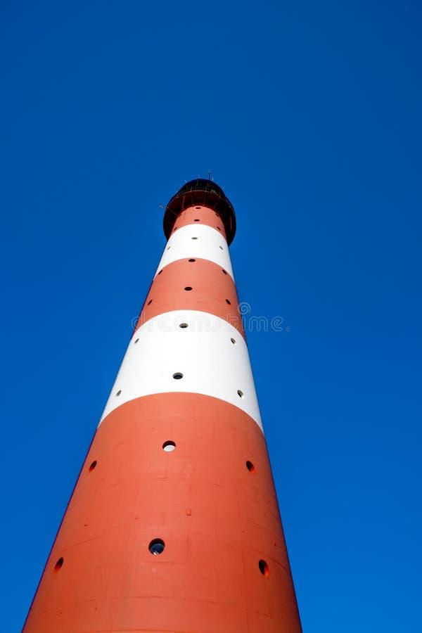 垂直的灯塔Westerhever 库存图片