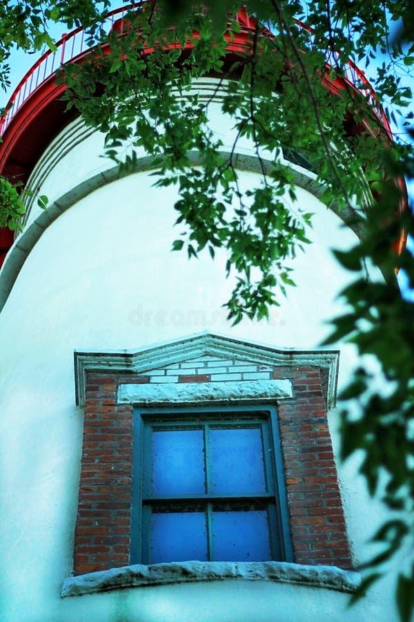 灯塔窗口 免版税库存照片
