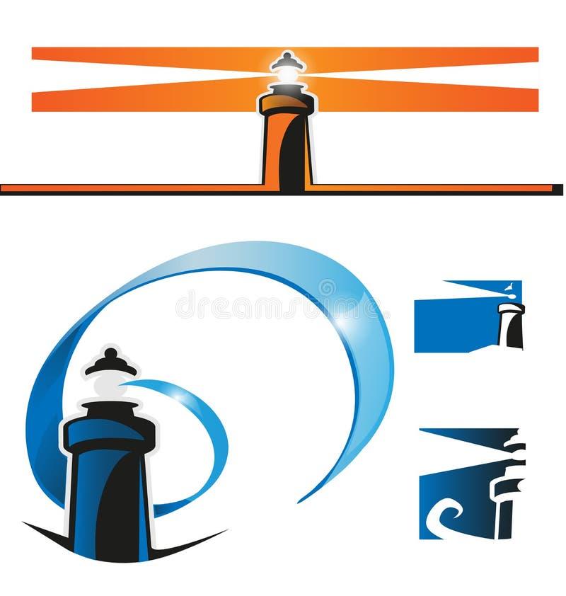 灯塔符号集 向量例证