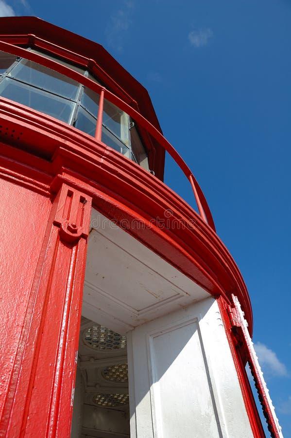 灯塔红顶塔 库存图片