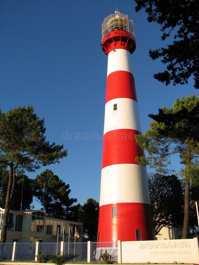 灯塔自在黑海的白天 免版税库存图片