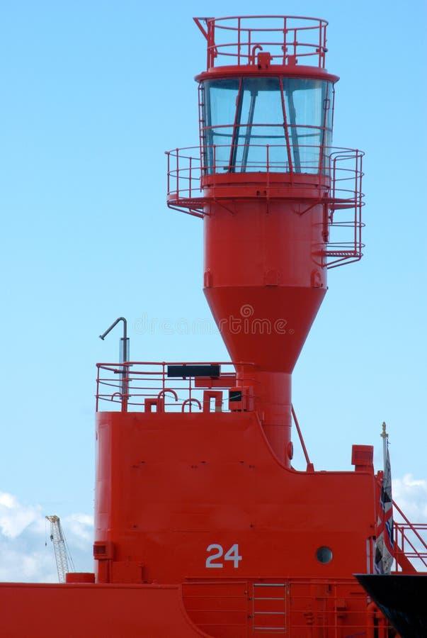 灯塔船红色 库存图片