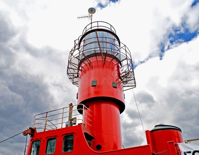 灯塔船 库存图片